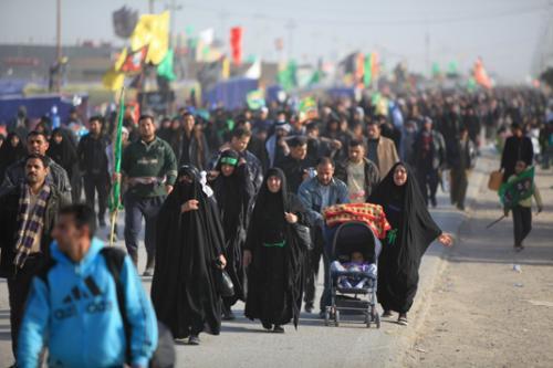 صورة بدء المسير المليوني نحو الكاظمية لإحياء ذكرى استشهاد الإمام الكاظم عليه السلام