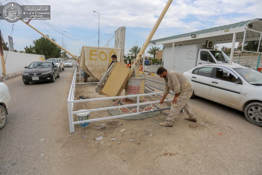 صورة المباشرة بتأهيل الشوارع الرئيسية المؤدية الى مرقد أمير المؤمنين عليه السلام في النجف الاشرف  (صور)