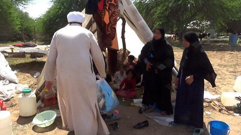 صورة مكتب المرجع الشيرازي يواصل تقديم الاعانات للمتضرّرين بالسيول بمحافظة خوزستان الايرانية