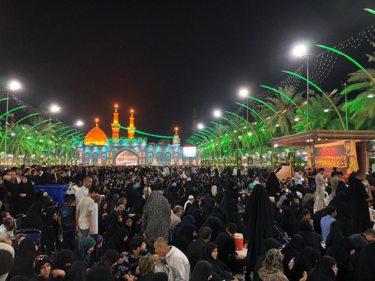 صورة مجموعة الامام الحسين الاعلامية تختتم مجلسها العزائي في منطقة ما بين الحرمين الشريفين في كربلاء المقدسة  (صور)