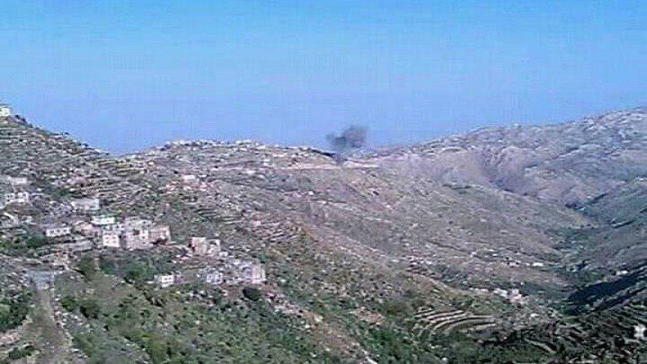 صورة قصف سعودي مكثف يستهدف مناطق سكنية بصعدة