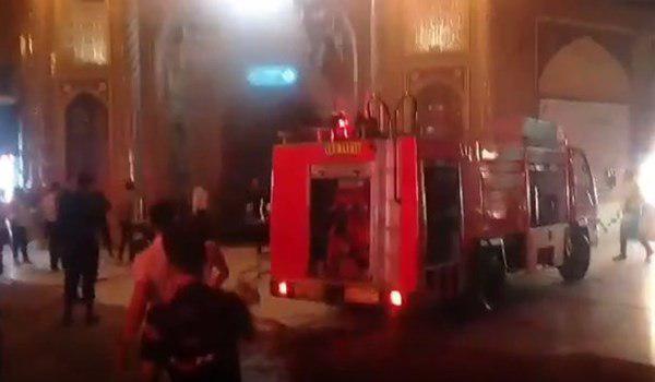 صورة إخماد حريق محدود في مرقد السيدة المعصومة عليها السلام في قم المقدسة
