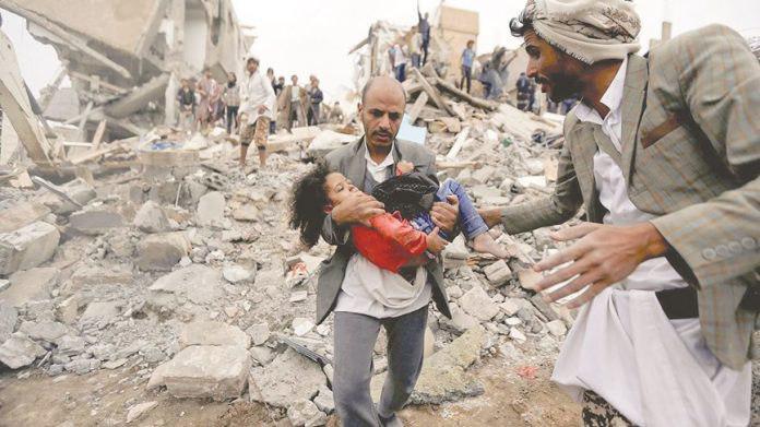 صورة الامم المتحدة: امريكا وفرنسا وبريطانيا ضالعون بجرائم حرب في اليمن