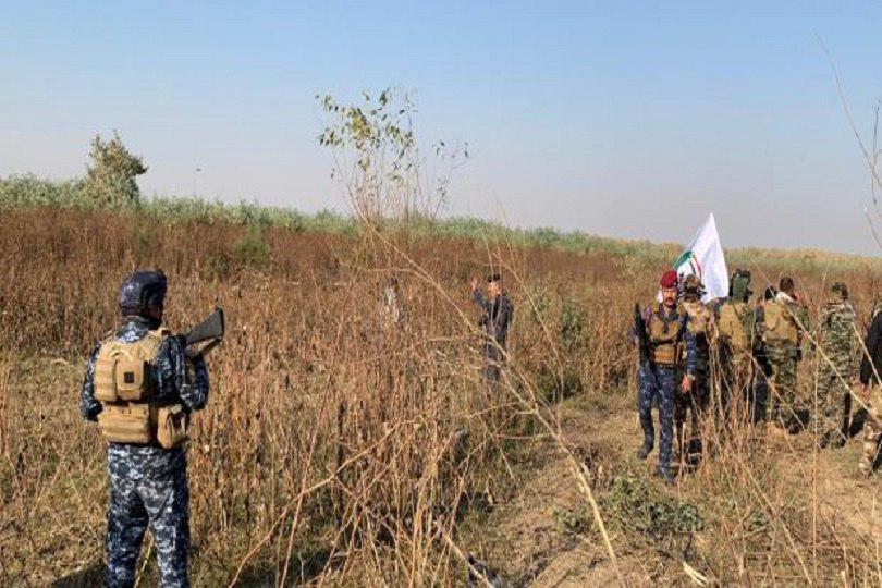صورة العراق: تدمير مضافة لداعش الارهابي بعملية أمنية شرق سامراء
