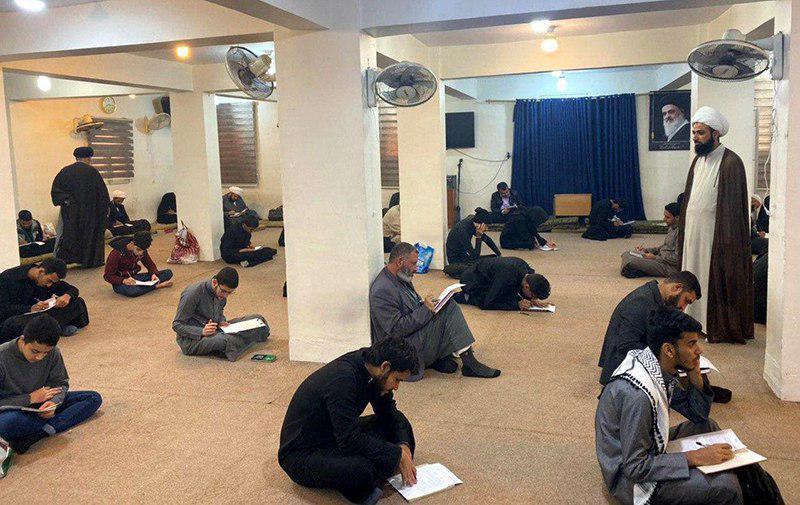 صورة مدرسة العلاّمة ابن فهد الحلي في كربلاء المقدسة تجري امتحاناتها الفصلية