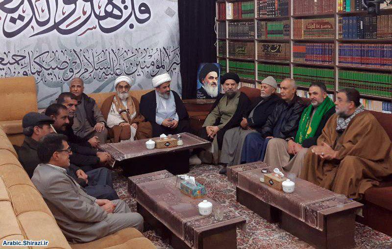 صورة أصحاب مواكب من كربلاء المقدسة يزورون اللجنة العالمية للهيئات والمواكب الحسينية في قم المقدسة