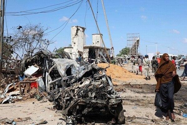 صورة حركة الشباب الارهابية تعلن مسؤوليتها عن التفجير في مقديشو