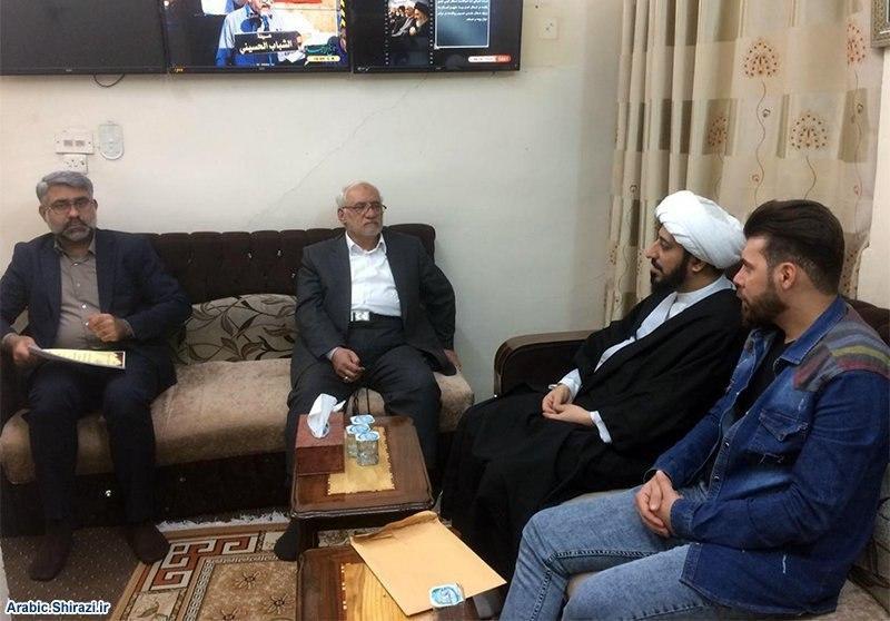 صورة مسؤول الهيئة الصادقية في البصرة يزور مجموعة الإمام الحسين عليه السلام الإعلامية في كربلاء المقدسة