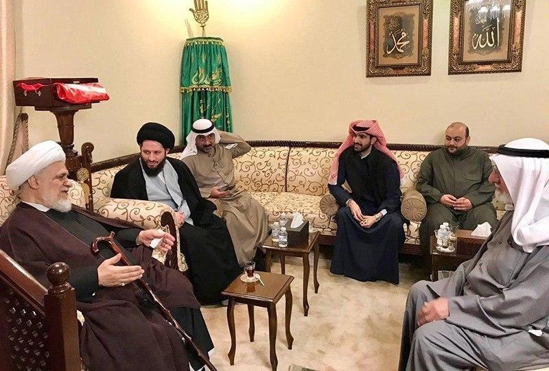 صورة فعاليات دينية واجتماعية لنجل المرجع الشيرازي في الكويت