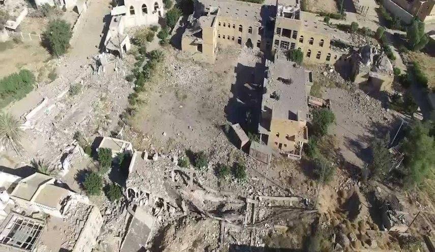 صورة إصابة مواطنين يمنيين اثنين بقصف عشوائي للتحالف في صعدة