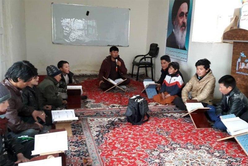 صورة تواصل فعاليات القسم القرآني لمكتب  المرجع الشيرازي في مدينة باميان الأفغانية