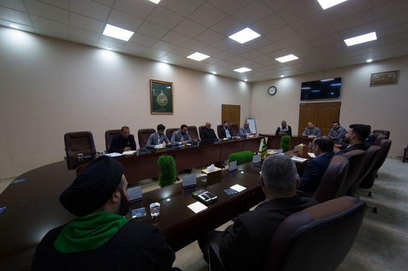 صورة العتبة العسكرية تناقش خطة زيارة استشهاد الامام الهادي عليه السلام