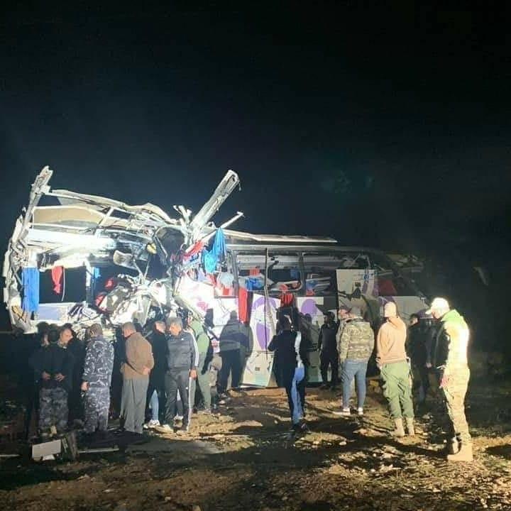 صورة قنوات الإمام الحسين عليه السلام الفضائية تنعى ضحايا حادث السير في دمشق