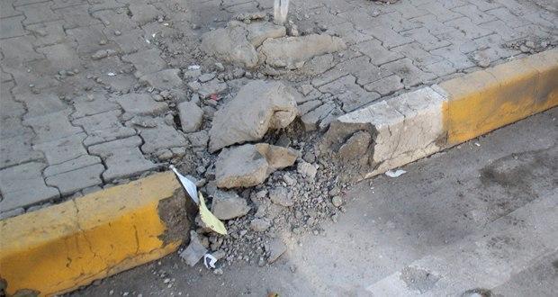 صورة استشهاد عنصرين من الشرطة العراقية بانفجار عبوة شمال شرق ديالى