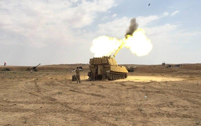 صورة العراق: قصف 4 اهداف داعشية في حوض الميتة بين صلاح الدين وديالى