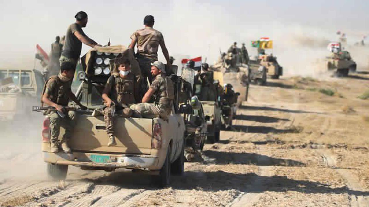 صورة الحشد الشعبي يعلن تمشيط 5 الاف دونم وتدمير مضافات بعملية عسكرية في ديالى