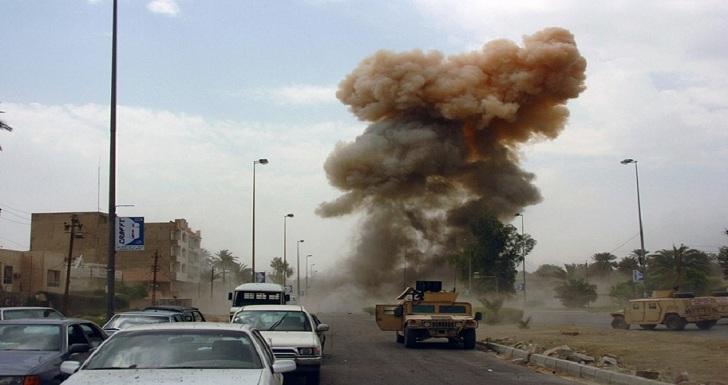 صورة اصابة 5 عناصر امن عراقيين بانفجار عبوة ناسفة في ديالى