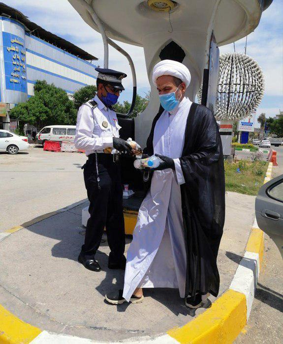 صورة مكتب المرجع الشيرازي يواصل فعالياته لمواجهة أزمة كورونا في  النجف الأشرف