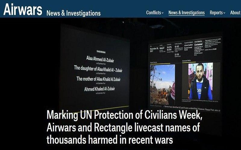 صورة موقع امريكي: 119 ألف إصابة ووفاة بين المدنيين في العراق وسوريا جراء غارات التحالف الدولي