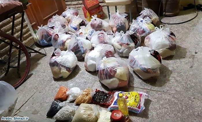 صورة حوزة كربلاء النسوية تبادر باعانة العوائل الفقيرة مع استمرار الحظر الوقائي