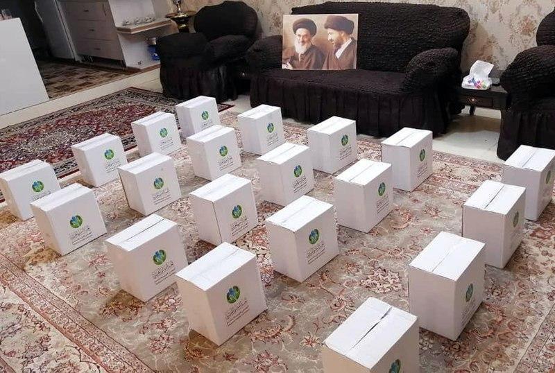 صورة لجنة التبسّم الخيرية توزّع إعانات أخرى للمتعفّفين في مشهد المقدّسة