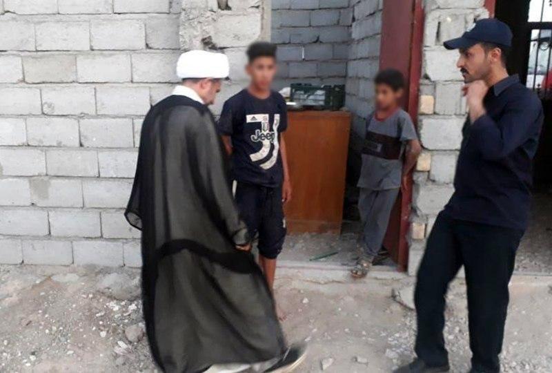 صورة مكتب المرجع الشيرازي في النجف بالتعاون مع مؤسسة مصباح الحسين عليه السلام يواصل فعالياته الانسانية