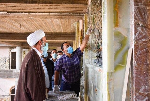 صورة استمرار الحركة العمرانية داخل مرقد العلوية شريفة بنت الحسن عليهم السلام في بابل