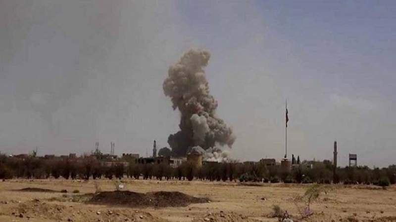 صورة عشرات الغارات لطيران التحالف السعودي على عدة محافظات يمنية