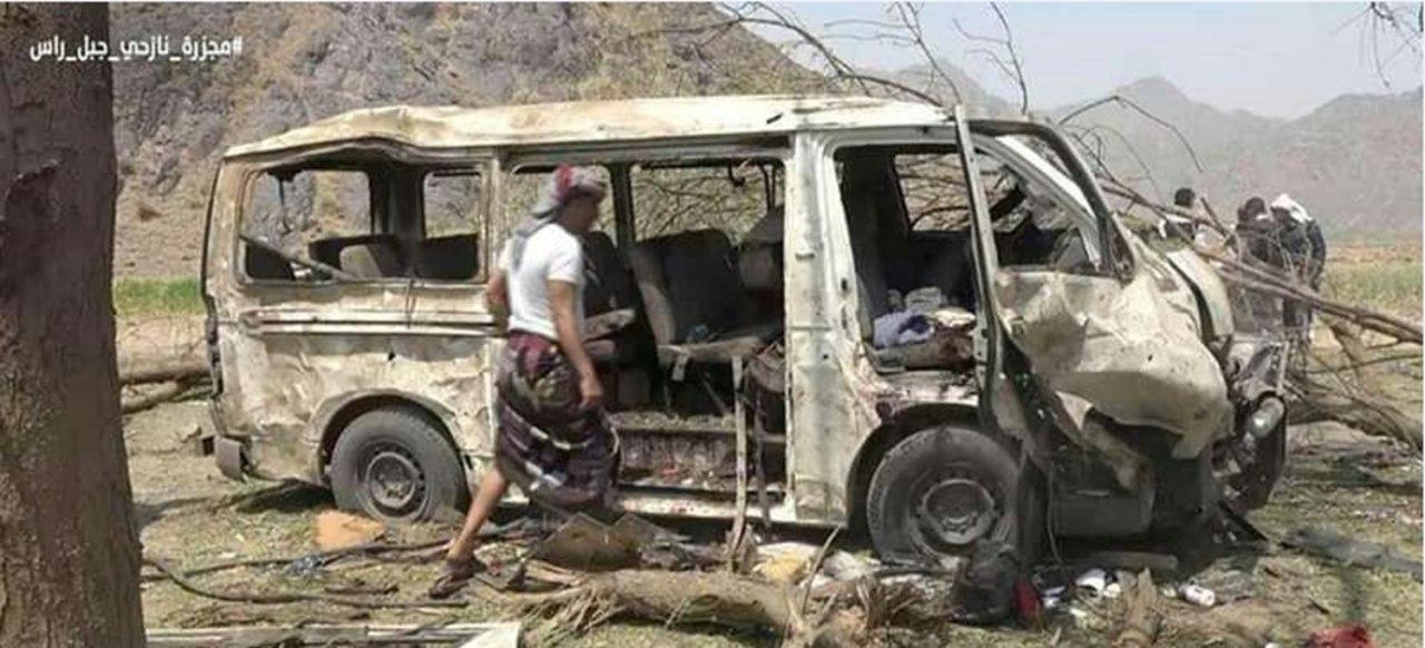 صورة أكثر من 25 شهيداً من النساء والأطفال في قصف لطيران التحالف السعودي بالجوف