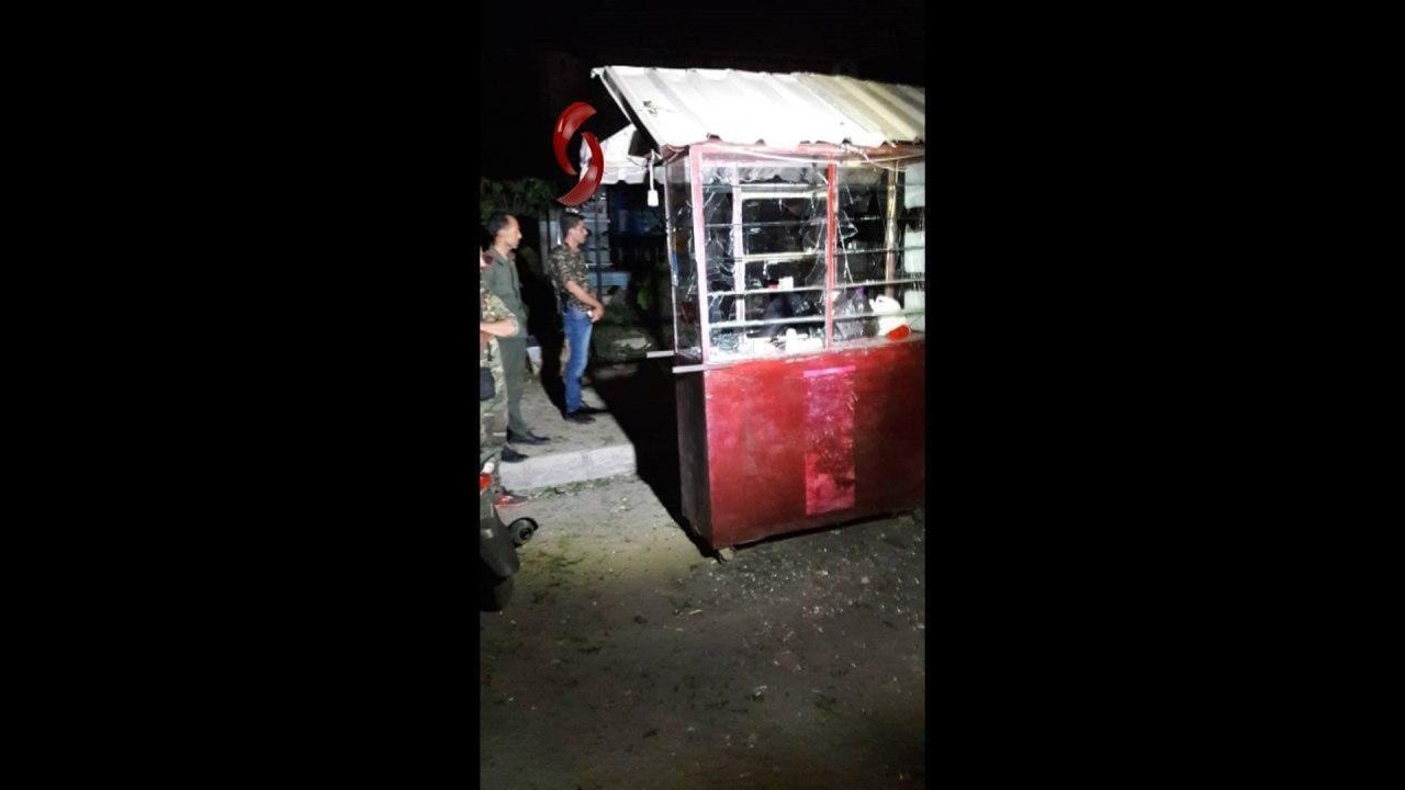 صورة انفجار يودي بحياة شخص ويصيب آخر وسط دمشق  (صور)
