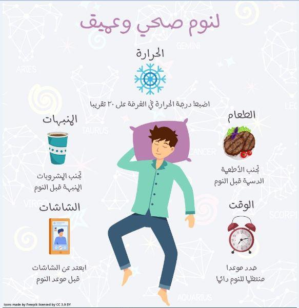 صورة 5 نصائح للحصول على نوم صحي وعميق (إنفوغرافيك)