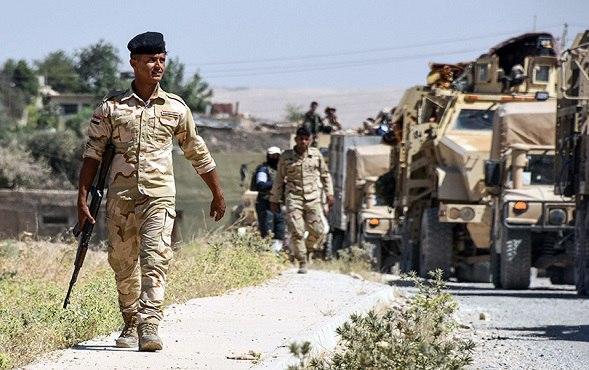 صورة عمليات سامراء تُعلن عن دك تجمع لداعش الارهابي بقنابر الهاون في شمال شرق سامراء