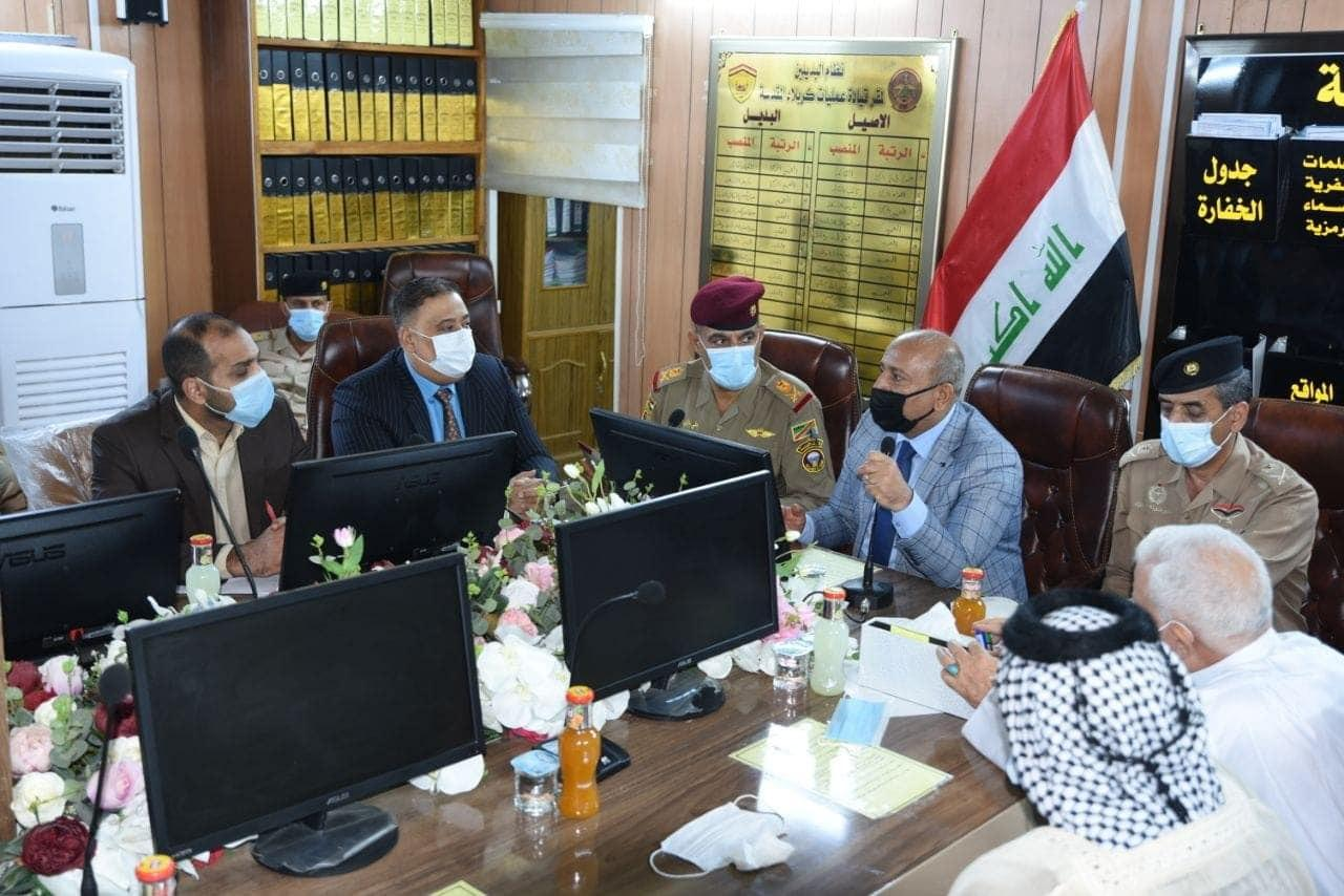 Photo of محافظ كربلاء يبحث مع القيادات الأمنية وهيئة المواكب آليات إقامة الشعائر الحسينية