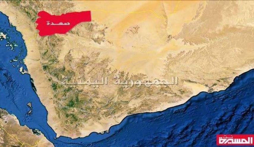 صورة إصابة رجل وامرأة جراء قصف سعودي على صعدة اليمنية