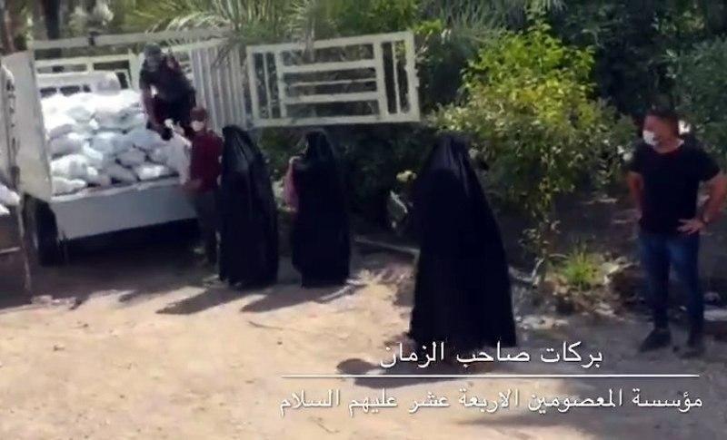 صورة مؤسسة المعصومين الأربعة عشر في كربلاء تواصل مشروعها الخيري الكبير بركات صاحب الزمان