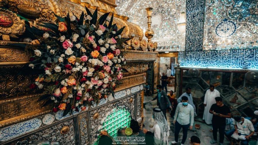 """صورة توافد جموع الزائرين الى حرم أمير المؤمنين عليه السلام في ذكرى يوم المباهلة """"صور"""""""