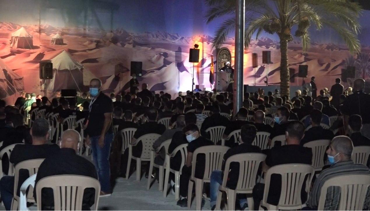 صورة بالصور.. ألالاف يشاركون في مجالس إحياء عاشوراء في مدينة القصيبة اللبنانية وسط التزامٍ بالإجراءات الصحية والوقائية