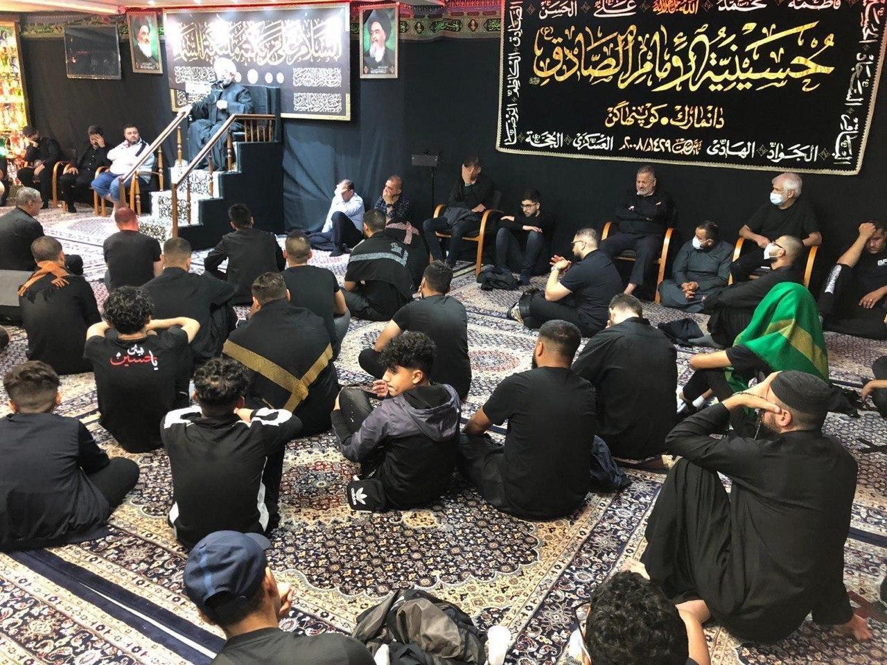 صورة مؤسسة الإمام الصادق عليه السلام في الدنمارك تحيي ذكرى عاشوراء