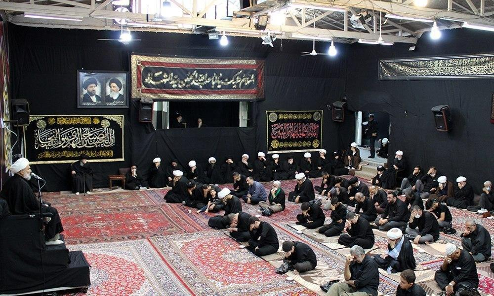 صورة تواصل مجالس العزاء الحسيني في بيت المرجع الشيرازي بمدينة قم المقدسة