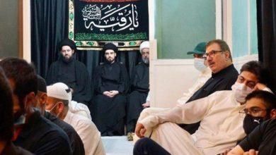 صورة تواصل مجالس العزاء الحسيني في بيت نجل المرجع الشيرازي في الكويت