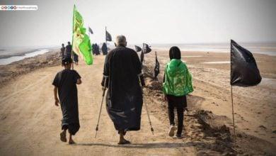 صورة بالصور .. مسيرة زوار الإمام الحسين عليه السلام من أقصى جنوب العراق صوب كربلاء المقدسة للمشاركة بزيارة الأربعين