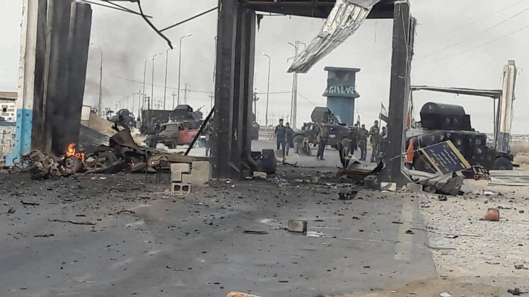 Photo of استشهاد امرأة وجرح ثلاثة منتسبين بانفجار عجلة مفخخة على طريق تكريت – كركوك