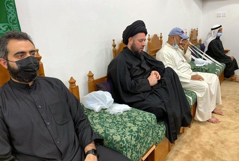 صورة نجل المرجع الشيرازي يشارك في المجالس الحسينية بدولة الكويت