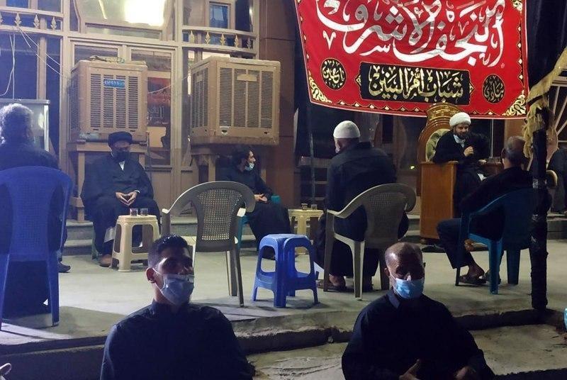 صورة وفد من مكتب المرجع الشيرازي يشارك في المجالس الحسينية في النجف الأشرف