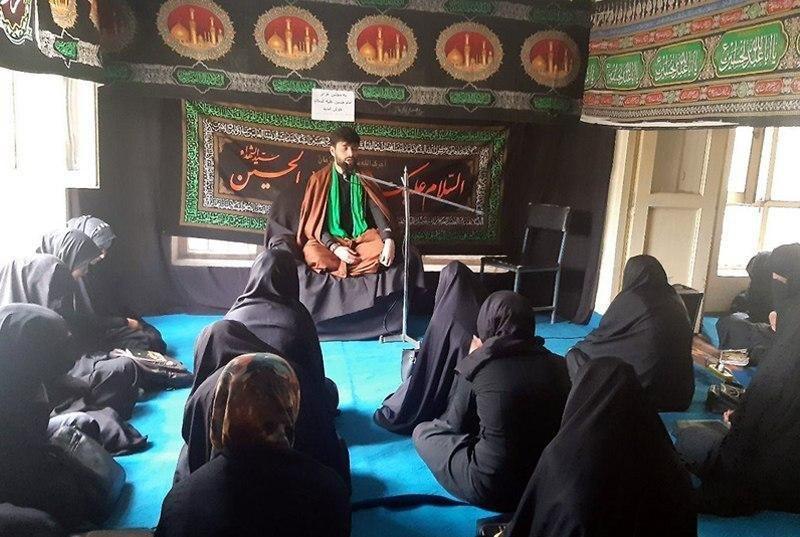 صورة حوزة السيّدة المعصومة العلمية النسوية في كابُل تحيي الشعائر الحسينية المقدّسة