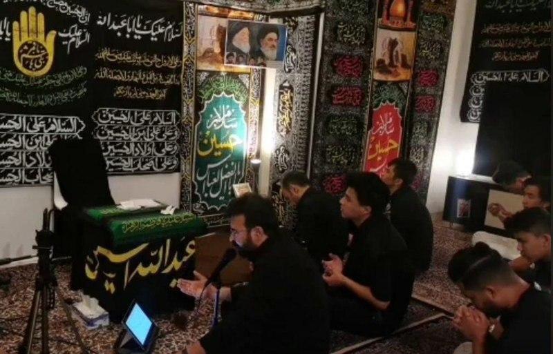 صورة عاشوراء حول العالم .. مجالس العزاء الحسيني في مركز السيّدة الزهراء عليها السلام في سويسرا