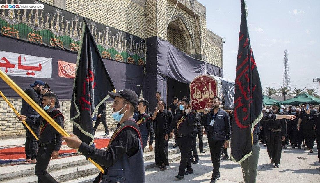 صورة بالصور .. مراسيم إحياء ذكرى وفاة السيدة شريفة بنت الإمام الحسن عليهما السلام عند مرقدها الطاهر