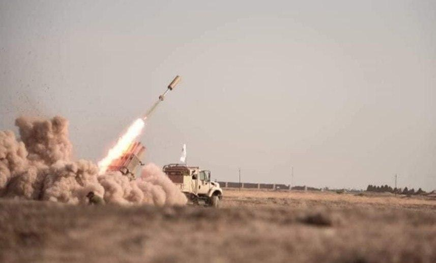 صورة عمليات سامراء تدك تجمعاً لداعش الإرهابي في منطقة حويجة جلوب
