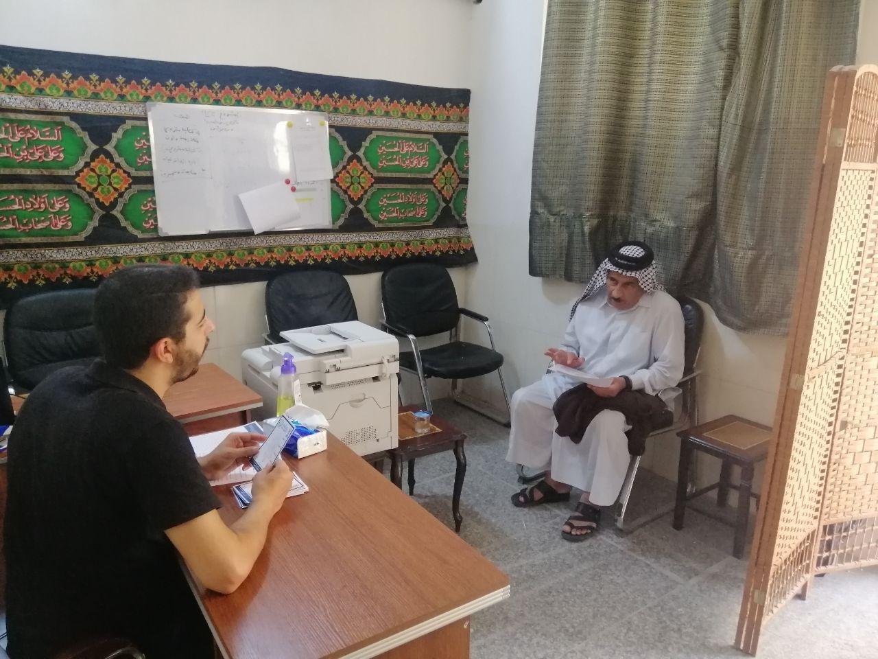 صورة مؤسسة مصباح الحسين عليه السلام في كربلاء المقدسة توزع اللحوم للعوائل المحتاجة