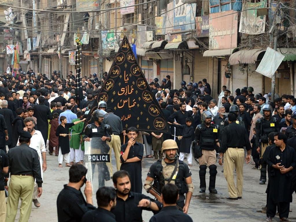 صورة موكب العزاء الموحّد في مدينة هافيليان الباكستانية يبلغ ذروته بسلام